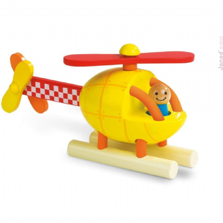 Magnetic Helicopter 2 in 1 Wooden Kit by Janod